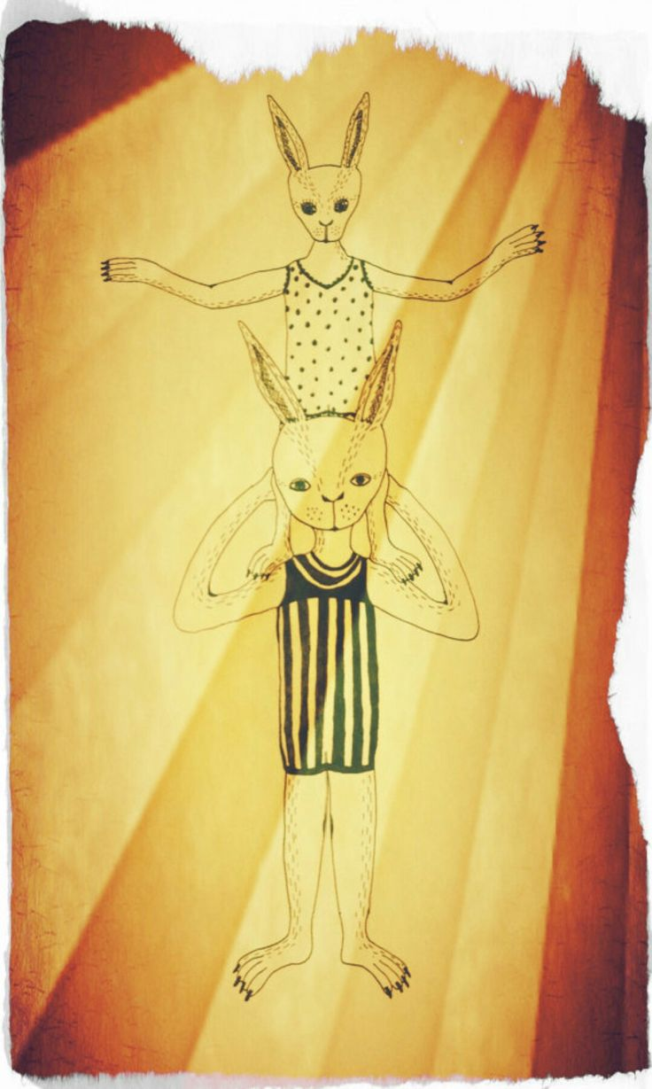 Konijnen Acrobatiek - Illustratie