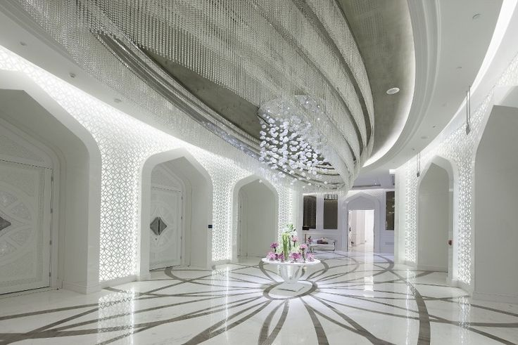 Exclusive light fixture made of Czech glass for Al Rufaa Celebration Hall Complex in Doha