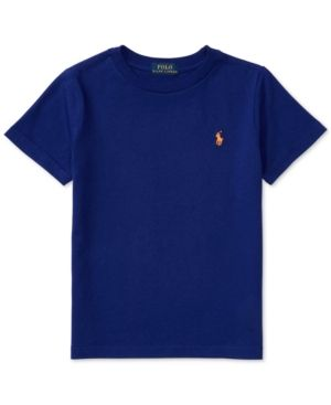 Ralph Lauren Jersey T-Shirt, Toddler Boys (2T-4T) & Little Boys (2-7) - Royal Marine 4/4T