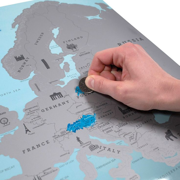 Scratch Map® Europe map - keep track of where you have been throughout Europe with the latest Scratch Map® Euro map!