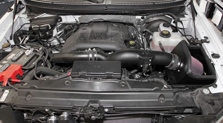 K&N Air Intake System on 2011 Ford F150 3.5L EcoBoost