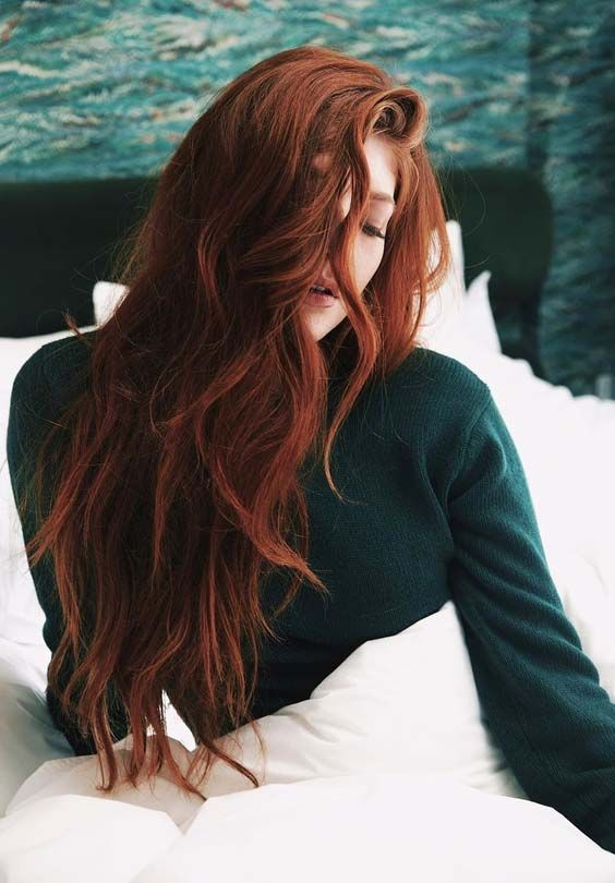 Browse here for inspirational red ginger hair colors for long hairstyles in 2018…