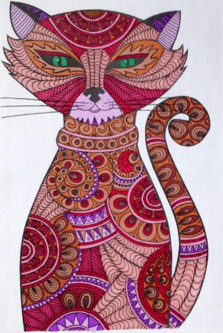 chat sur une fenetre coloriage drole de chat drole de chat