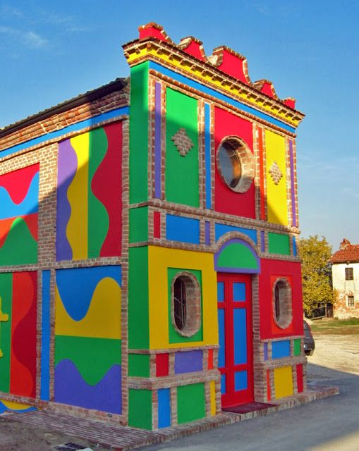 The Sol LeWitt and David Tremlett Chapel, Brunate, La Morra, 1999 #exploreeveryday
