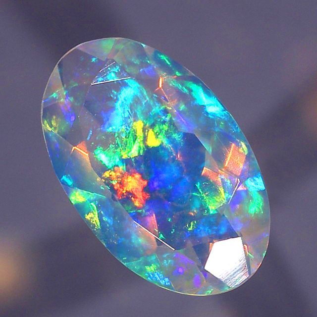 Amazing Faceted Crystal Opal #Gemstones #Jewelry #Opal #CrystalOpal