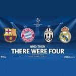 Le Real Madrid et la Juventus de Turin ont rejoint le Bayern Munich et le FC Barcelone en demi-finales de la ligue des champions d'Europe. En s'imposant 1 à 0, le tenant du titre est venu à bout de son voisin, l'Atletico, grâce à un but inscrit par Chicharito à la 88ème minute de jeu. [...]