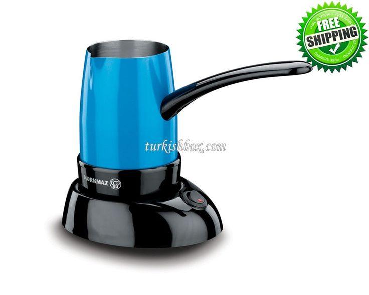 Turkish Coffee Maker - Korkmaz A365 Blue - http://turkishbox.com/product/turkish-coffee-maker-korkmaz-a365-blue/  #turkishtowels #peshtemals #turkishproducts