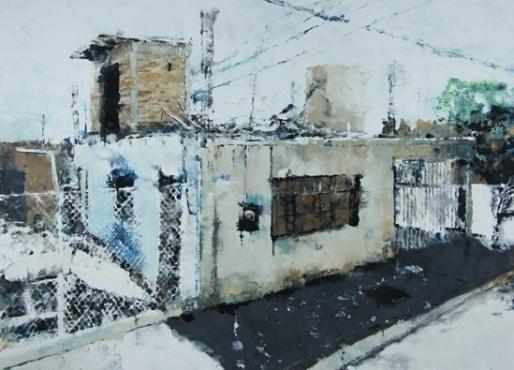 Exposition Philippe Cognée à la galerie Daniel Templon