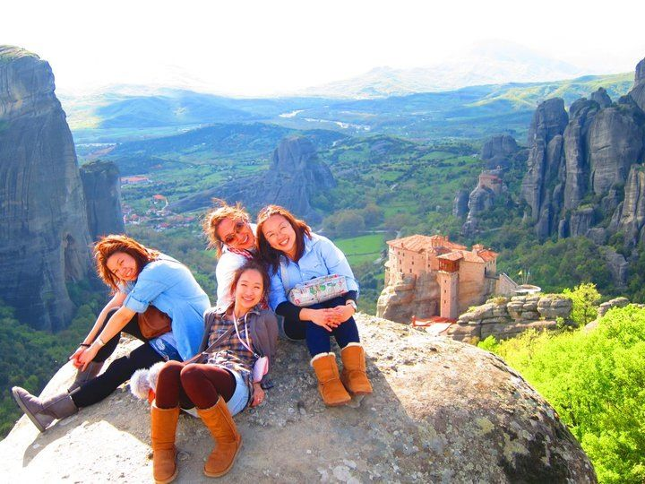 We are at Meteora in Greece