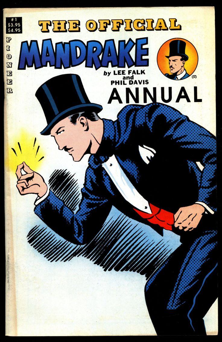 Official MANDRAKE the Magician Annual #1 Lee Falk Phil Davis Comic Book Newspaper Funnies Reprints