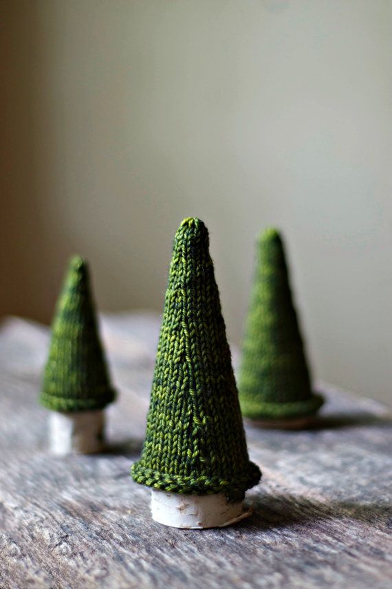 Knitting Pattern - Jack Pine Tree - Knit Christmas Tree - Holiday Decor