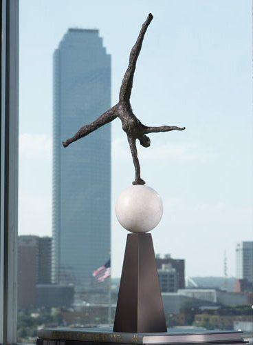 "Global Views 8.80578 Modern Acrobat Transitional Sculpture GLV-8-80578 $172.50 - 25""h x 12w x 9""d"