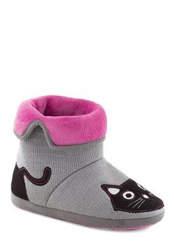 Plush 'n' Boots Slippers, #ModCloth