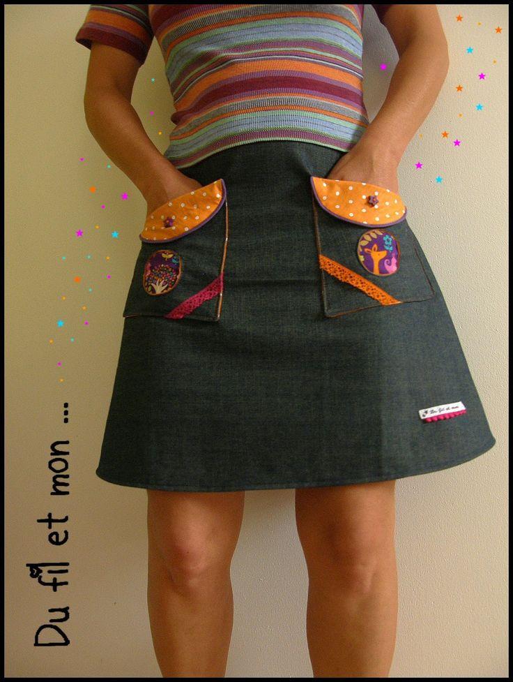 Du fil et mon...: Jupe et poches