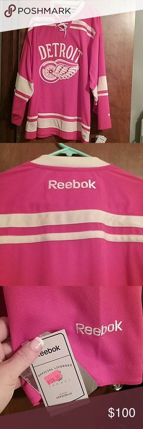 Offical NHL RED WING hockey jersey Excellent condition with tags Reebok Tops