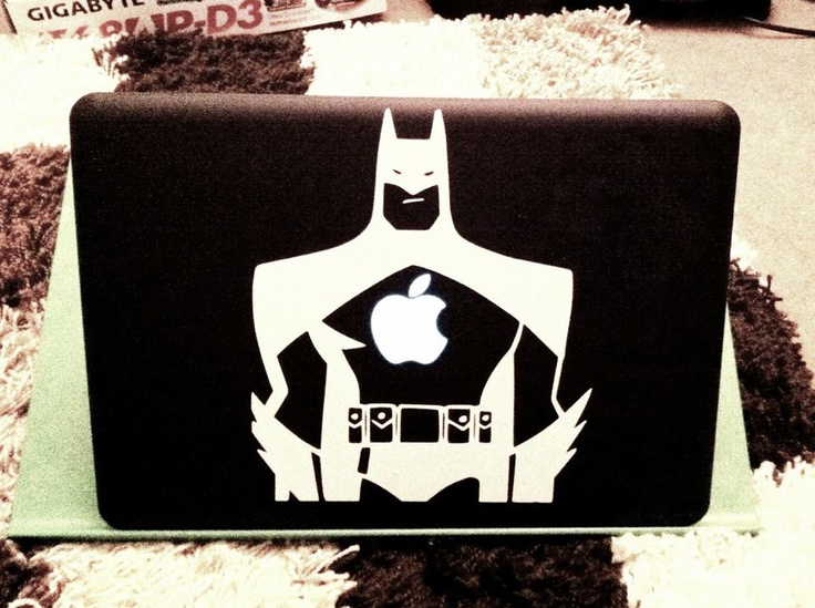 "Macbook Pro 13"" 2010. Upgrades: 240GB OCZ Agility 3 SSD, 8GB DDR3 RAM, InCase black case, white Batman vinyl."