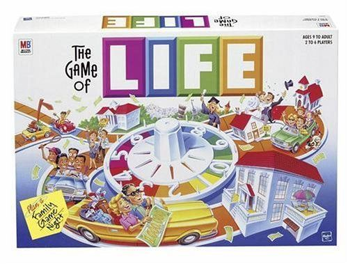 Game of Life Anything's possible with a spin of the Life wheel! A classic family game that can be a reality check--or just a fun time. Price : $25.64 http://www.thinkfasttoys.com/Hasbro-Game-of-Life/dp/B00000IWD7