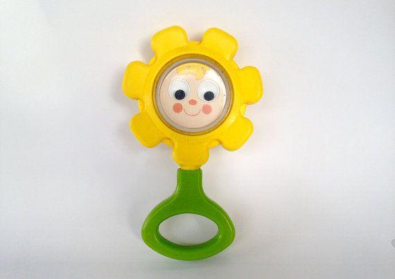 Vintage FISHER PRICE toys  flower rattle  by EphemereIntemporel