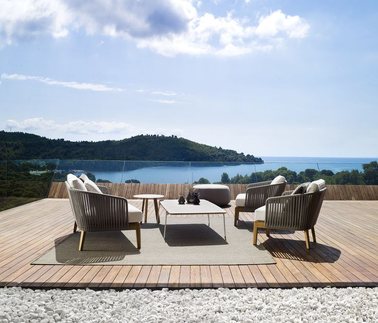 Environmentally friendly and water resistant, the Tribu Mood collection by Tribu is a breathtaking example of design innovation. The natural feel of this range will help inspire a relaxed and calm ambience encouraged by the teak and yarn combination.