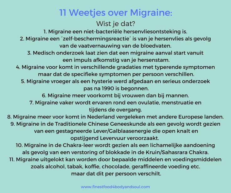 #Wistjedat? Zie hier 11 weetjes over migraine! Houd deze pagina goed in de gaten voor een video waarin ik extra aandacht zal besteden aan de mogelijke oorzaken, symptomen en diverse tips zal geven om een migraine aanval te kunnen verhelpen en voorkomen... #migrainefeiten #migraineinformatie #migrainwattedoen