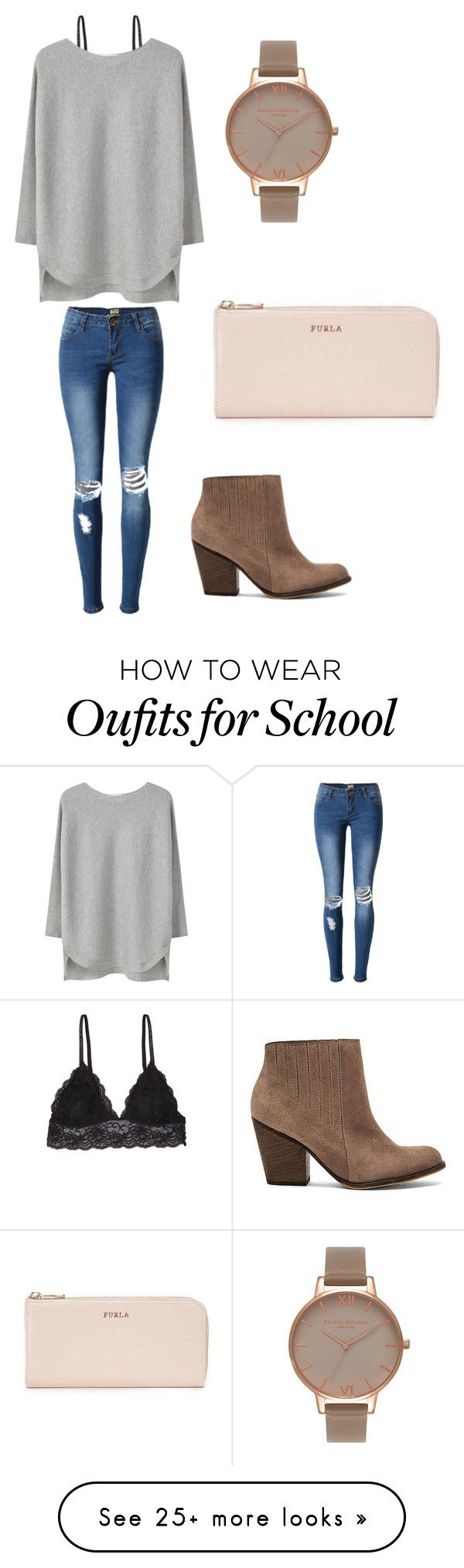 """got school free so i go shopping"" by sarahfohlen on Polyvore featuring Humble Chic, MANGO, Olivia Burton, Kaanas, Furla, Fall and 2k16"