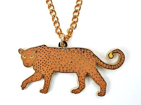 Enamel Leopard Necklace SALE