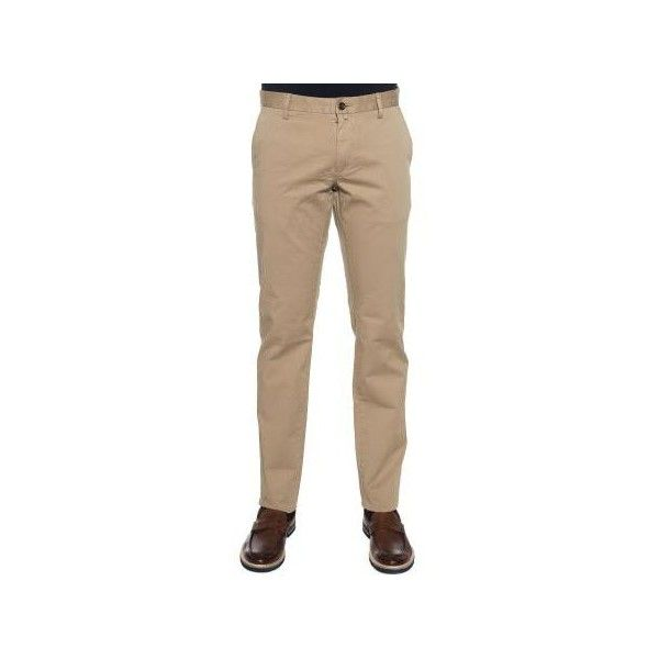 Gant Chino (2,275 MXN) ❤ liked on Polyvore featuring men's fashion, men's clothing, men's pants, men's casual pants, beige, trousers, mens slim pants, mens slim fit pants, mens slim fit chino pants and mens chino pants
