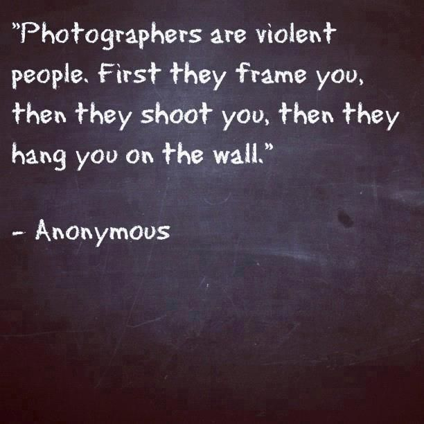Photographers ...