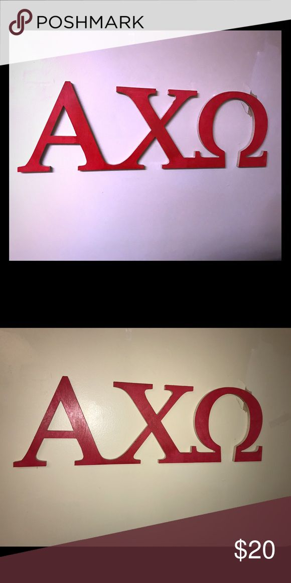 Selling this Alpha Chi Omega sorority letters on Poshmark! My username is: clare98144. #shopmycloset #poshmark #fashion #shopping #style #forsale #Accessories