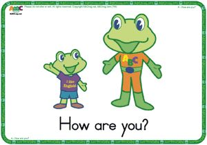 Lovely greeting flashcards from ABCfrog.net