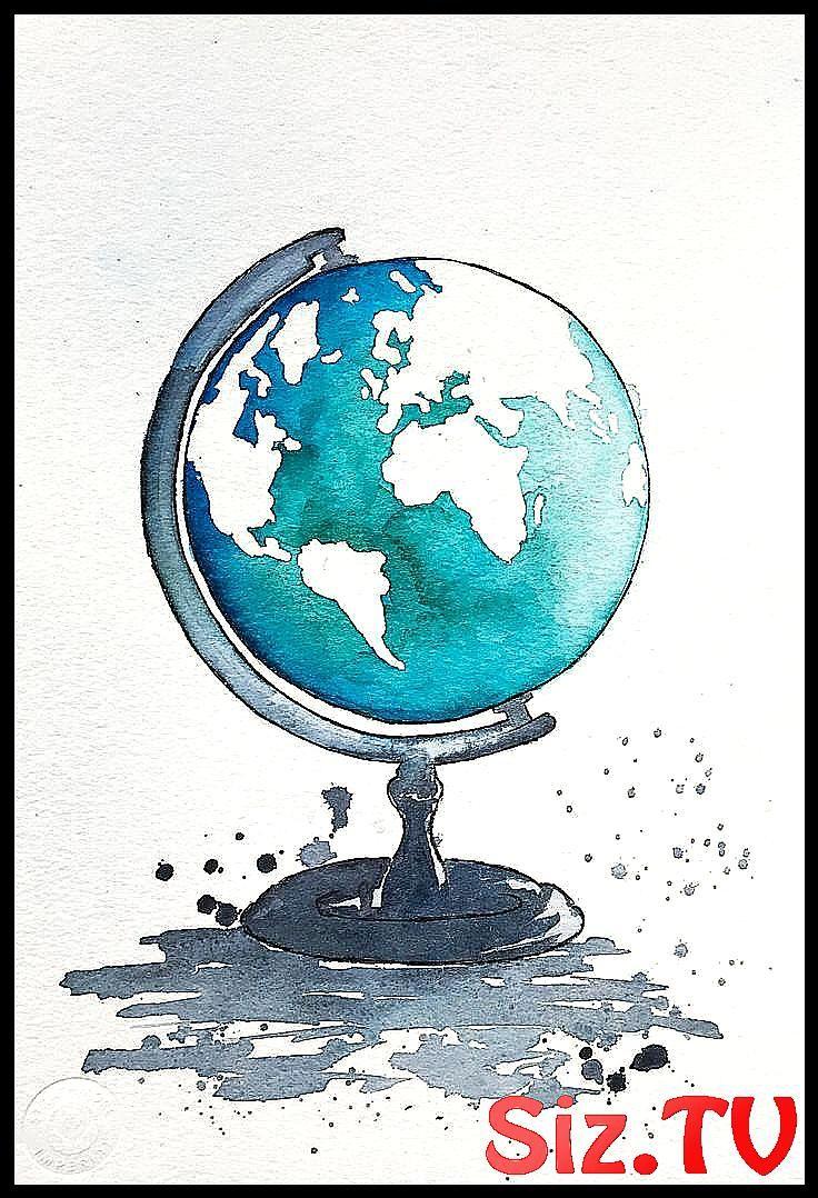 Globus Kunst Weltkarte Malerei Kinderzimmer Dekor Karte ein #art #Decor #Etsy #Geschenk #glob …