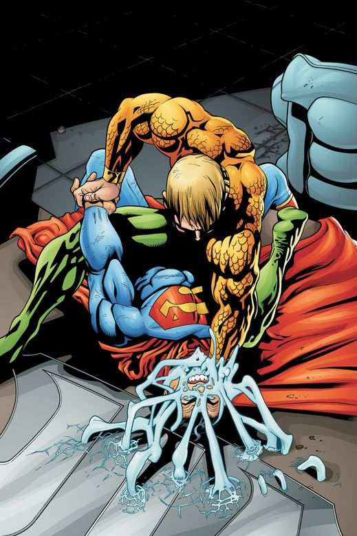 Aquaman Vs Superman by Patrick Gleason.                                                                                                                                                     More