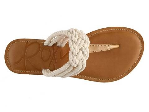 I need these for a red and white party soon... Gotta find these...Roxy St. Tropez Sandal.  Cute nautical shoes.