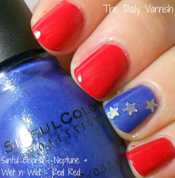 Late Night Nail Art Quick Easy Patriotic Mani: 17 Best Images About Nailed It! On Pinterest