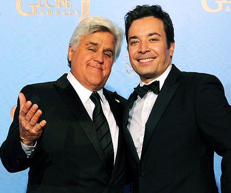Jay Leno congratulated new Tonight Show host Jimmy Fallon in his opening monologue last night.