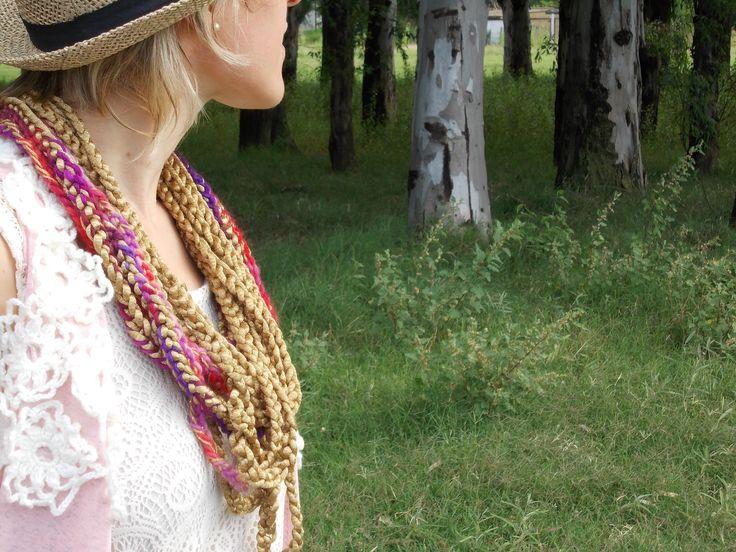 Collares de cadenas tejidas al crochet