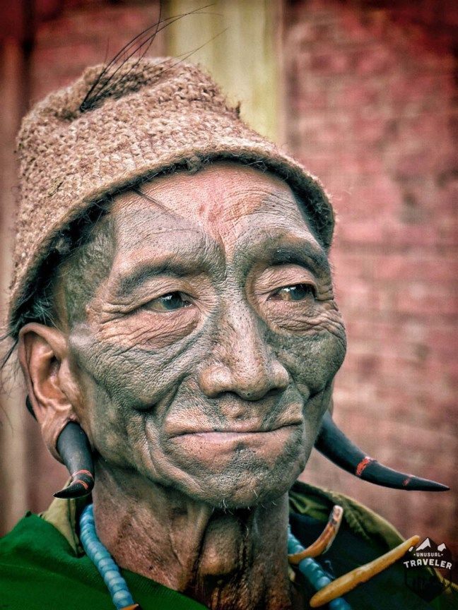Headhunter in #Nagaland, #India. #Travel, #face #tattoo #portrait