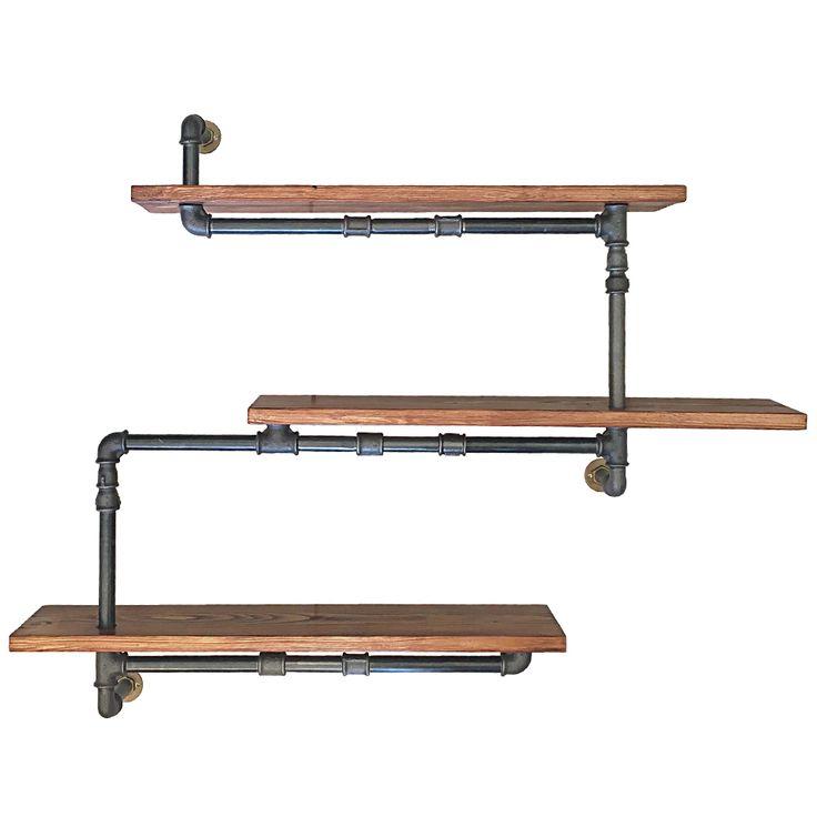 Ραφιέρα Τοίχου σε Industrial στυλ από ξύλο και υδραυλικούς σωλήνες. Βρες τα πιο εκκεντρικά μικροέπιπλα για να δώσεις το απόλυτο βιομηχανικό στυλ.