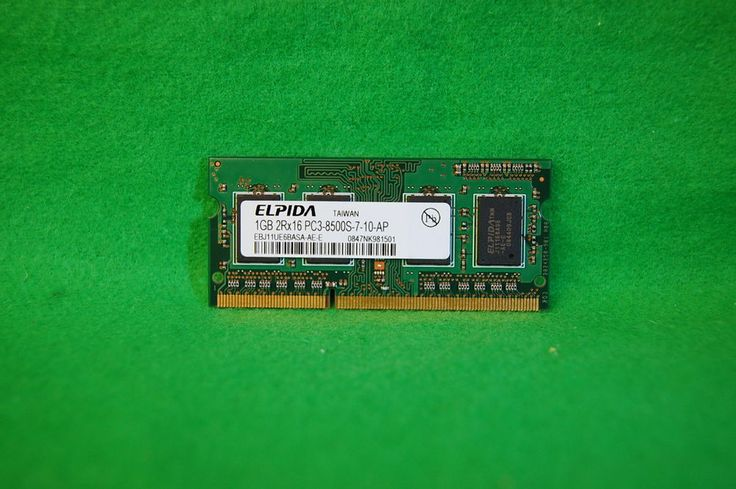 Notebook RAM 1GB 204p PC3-8500 CL7 DDR3-1066 Elpida EBJ11UE6BASA-AE-E SODIMM