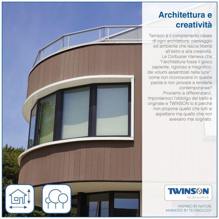 """Twinson è il complemento ideale di ogni architettura, paesaggio ed ambiente che lascia libertà all'estro e alla creatività. Le Corbusier riteneva che """"l'architettura fosse il gioco sapiente, rigoroso e magnifico, dei volumi assemblati nella luce"""": come non riconoscersi in queste parole e non provare a renderle contemporanee? Proviamo a differenziarci, imponiamoci l'obbligo del bello e originale e TWINSON lo è perché non propone quello che tutti si aspettano ma quello che non avevano mai…"""