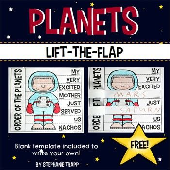 Order of the Planets Mnemonic Device Life the Flap {Freebie}