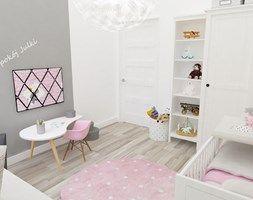 Pokój Julki - Średni pokój dziecka dla dziewczynki dla malucha, styl skandynawski - zdjęcie od JMJ Interiors