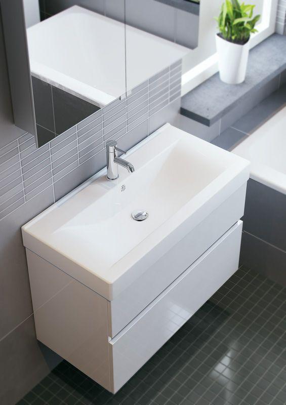 Bruynzeel Nano 90cm // badmeubel badkamer sanitair / bathroom furniture cabinet / meuble salle de bain