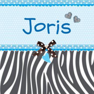Geboortekaartje zebraprint geboortekaart #jongen #zoon #zoontje #zebrapatroon #stippenpatroon #lint