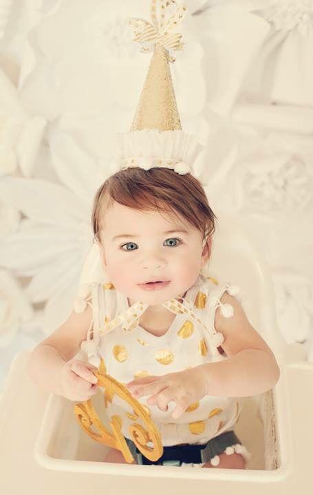 Giselle turns one #birthday first birthday vintage portrait photography. Cake smash