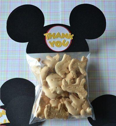 Bolsitas de galletas con orejas de Mickey como souvenirs de baby shower | Manualidades para Baby Shower