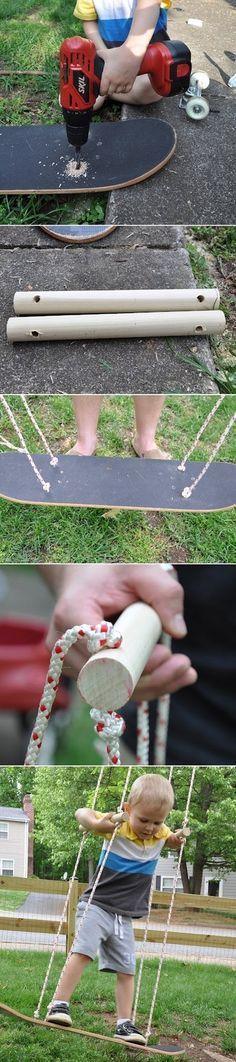 Balançoire en planche de skate #diy #skateboard