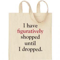 'Literally' Canvas Shopper