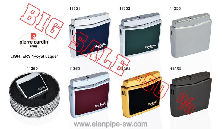 -50 % Grate discounts!!! BIG OVERSTOCK—Pierre Cardin ROYAL LAQUE LIGHTERS! Online Shopping with www.elenpipe-sw.com wholesale and retail.