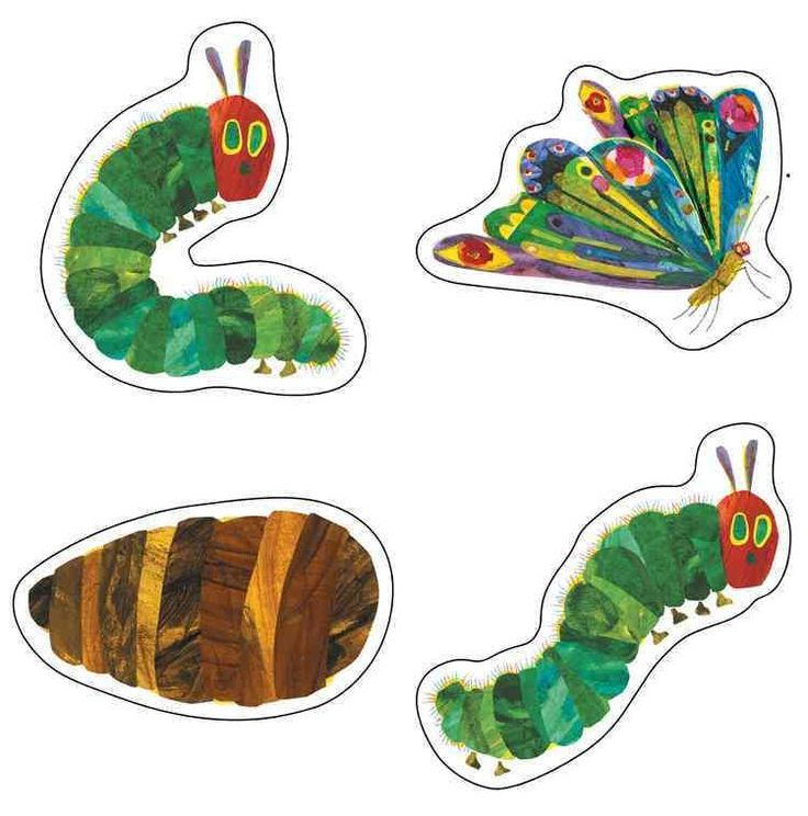 Celebrate the 45th Anniversary of The Very Hungry Caterpillar(TM) with these assorted cut-outs featuring artwork from The World of Eric Carle(TM). This 48 piece pack includes an assortment of colorful